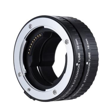VILTROX DG-EOS M Automatische Extension Tube 10mm und 16mm Autofokus für Canon EF-M Montage Serie Mirrorless Kamera und Objektiv