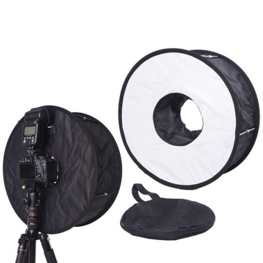 Leichter faltbarer runder Ring Speedlite Flash Softbox Diffusor Reflektor