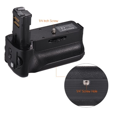 Vertical Battery Grip Replacement Camera Grip with NP-FW50 Battery 2.4G Wireless Remote Control for Sony A7II/A7M2/A7R2 Digital SLR Camera