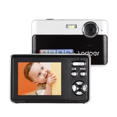 Andoer tragbare Mini-Digitalkamera 24 Megapixel High Definition 2,4-Zoll-IPS-Bildschirm 3X Digital Zoom Gesichtserkennung