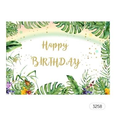 # 3232 7 * 5ft alles Gute zum Geburtstag Cartoon Hintergrund Baby Shower Kind Geburtstag Fotografie Hintergrund