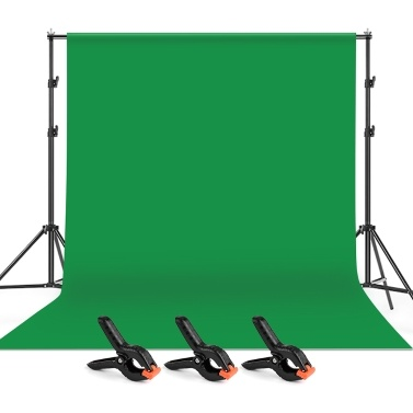 Andoer 2 * 3m/6.6 * 10ft Studio Photography Green Screen Backdrop Background Washable Polyester-Cotton Fabric