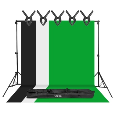 Andoer Photography Kit 2*3 Meters Adjustable Aluminum Alloy Background Support Stand Photo Backdrop Bracket