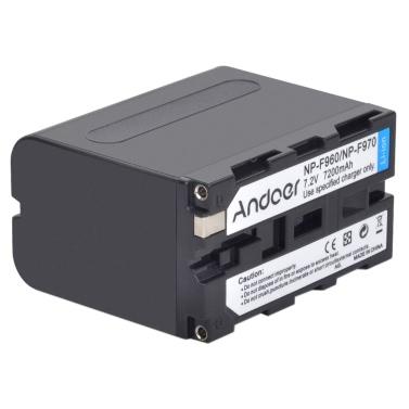 Andoer wiederaufladbare Ersatz Kamera Camcorder Li-Ion Lithium Akku für Sony NP-F960 NP-F970 NP-F930 F950 F330 F550 F570 F750 F770