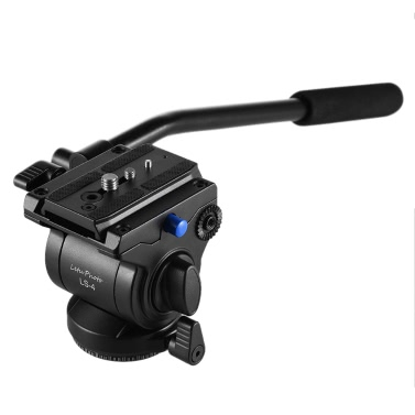 Professional Photography Video 65mm Base Diameter Fluid Drag Tilt Hydraulic Damping Head with Quick Release Plate for DSLR Camera Tripod Monopod Slider Rail
