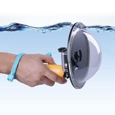 """Andoer 6 """"Halbkreisförmige Unterwasser-5M wasserdichte Abdeckung Acryl Gehäuse Tauchen Objektiv Domes mit Floating Handgriff für GoPro Hero 4/3 + / 3-Sport-Kamera Action Cam"""