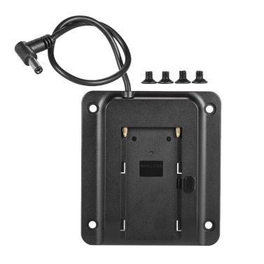 Batterie-Adapter-Grundplatte Batterieplatte für Lilliput Feelworld Andoer Monitor unterstützte für Sony NP-F970 F550 F770 F970 F960 F750 Akku