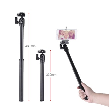 KINGJOY P056 5-Section DSLR Camera Tripod Multifunctional Light & Portable Tripod and Selfie Stick for Sony Canon and Others