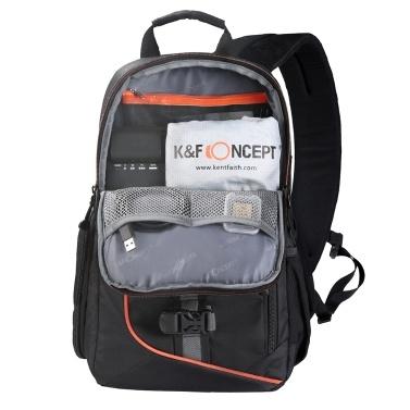 K & F CONCEPT Digital DSLR Kameratasche Rucksack Reisetasche Sling Schultertasche Shockproof Wasserdicht mit Objektiv Reinigungsset für Canon Nikon Sony Outdoor-Fotografie