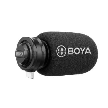 BOYA BY-DM100 Digitales Stereo-Cardioid-Kondensatormikrofon Hervorragender Klang für Android-USB-Typ-C-Geräte Aufnahme