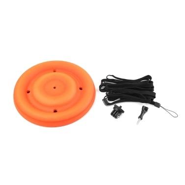 Multifunktions-Schwimmhalterung Wasserdichte Flugscheibe mit 1/4 Zoll Schraubhalterung für GoPro Hero 7/6/5 SJCAM SJ4000 Xiaomi Yi Sport-Action-Kamera-Zubehör zum Schwimmen