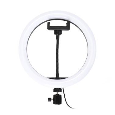 10 '' Dimmbares LED Selfie rundes Licht mit einstellbarer Lampe für die Helligkeit des Telefonclips