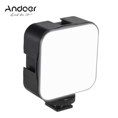 Andoer Mini Lâmpada de embutir para fotografia com luz de vídeo LED