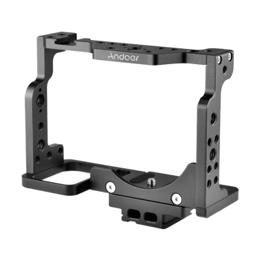Andoer C15-A Camera Cage Aluminum Alloy with Cold Shoe Mount