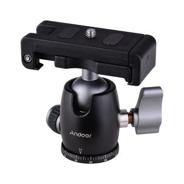 Andoer Tripod Camera Ball Head 360° Swivel Panorama Rotating