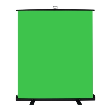 Andoer Portable Stretchable Chromakey Background 1.5*2m Pull-up Style Wrinkle-resistant Green Screen Backdrop