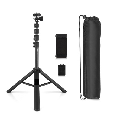 Andoer ZP100B Selfie Stick Tripod Extendable Portable Phone Tripod Stand with BT Remote 180° Neck & 360° Head Rotation Compatible with iOS Android Smartphone for Selfie Video Recording