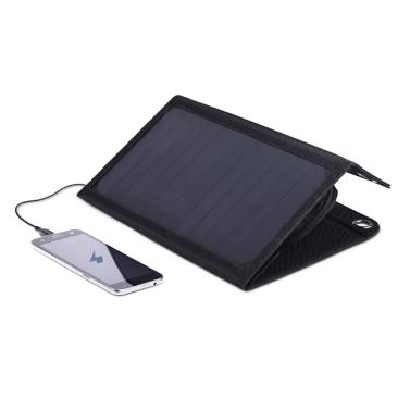 dodocool portátil plegable 12W 10000mAh Dual USB Solar Charger Power Bank