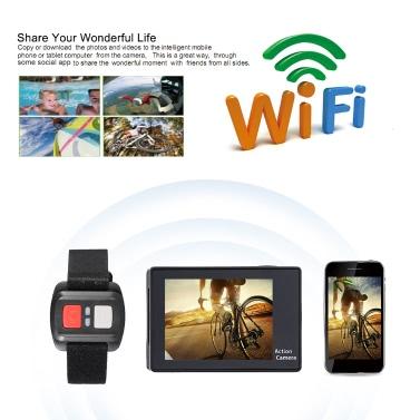 "H8R 2,0 ""LCD 4K 15fps 1080P 60fps Full HD Wifi 30M Wasserdichtes 12MP 170 ° Weitwinkelobjektiv mit Remote Watch Sports Action Kamera"