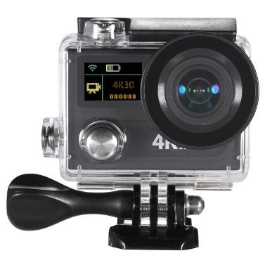 "WiFi Sport Action Kamera 2"" Dual LCD Bildschirm 360 VR Spiel 4K 30 Bildern pro Sekunde 1080P 60fps 12MP Ultra HD 170 ° Weitwinkel 30M wasserdicht Cam DVR FPV"