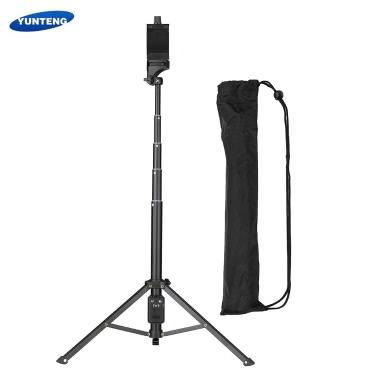YUNTENG VCT-1688 2in1 Mini portátil portátil Selfie Stick Tabletop trípode con mando a distancia para iPhone Samsung Huawei 52mm-102mm Width Smartphone para cámaras DSLR ILDC Action Camera Max. Carga de 5kg