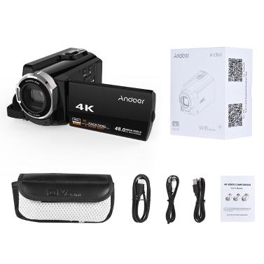 Andoer HDV-534K 4K 48MP WiFi Digital Video Camera