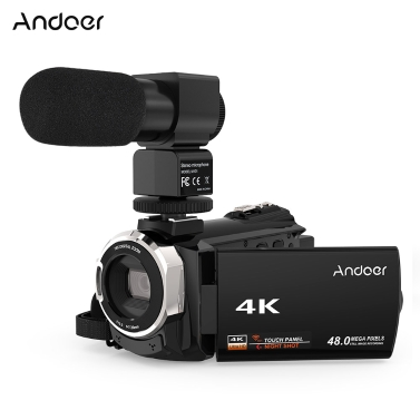 Andoer 524KM 4K 1080P 48MP WiFi Digital Video Camera