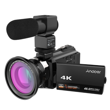 43% OFF Andoer 4K 1080P 48MP WiFi Digital Video Camera,limited offer $144.56
