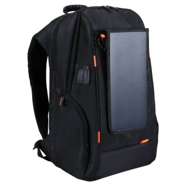 4 € de réduction pour le sac à dos de charge respirant imperméable à l'eau extérieur + port USB avec panneau solaire seulement € 28,98