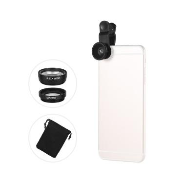 Universal-Clip-Objektiv-Kit 180 ° Handy Fisheye-Objektiv