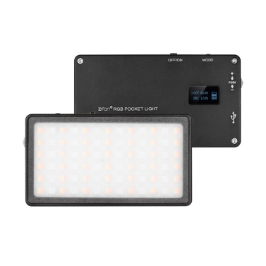 ZIFON RGB Pocket LED Video Light Panel Camera Fill Light