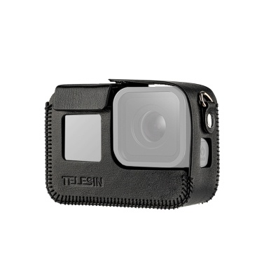 TELESIN Camera Protective Case Shell Cover PU Leather Compatible GoPro Hero 8 Action Camera