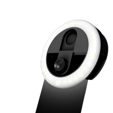 3-in-1 Mini Clip-on Smartphone Fill-in Light & Mobile Phone Camera Lens Kit