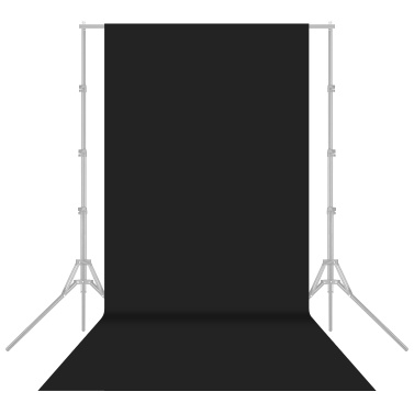 1.6x4m/5x13ft Photography Studio Non-woven Backdrop Background Screen Solid Color Black
