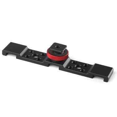 Aluminum Triple Cold Shoe Mount Plate Bracket for Camera Microphone LED Light Mounting