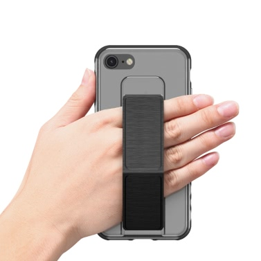 dodocool Ultra Slim Crystal Clear Schutzhülle mit faltbarem Ständer-Griff-Halter Anti-Rutsch-Stoßdämpfung Kratzschutz-Shell Cover für 4,7-Zoll-iPhone 7 Black