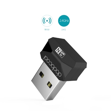 76% OFF dodocool N150 2.4 GHz Mini USB Adapter,limited offer $3.99