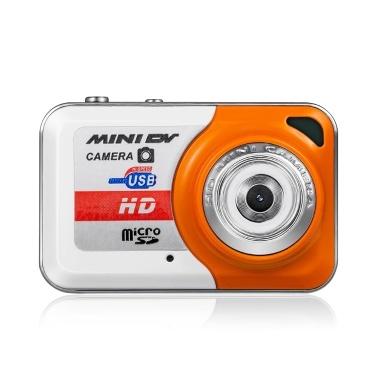 X6 tragbare Mini-Digitalkamera mit hoher Auflösung Mini-DV-Unterstützung 32 GB TF-Karte mit Mikrofon
