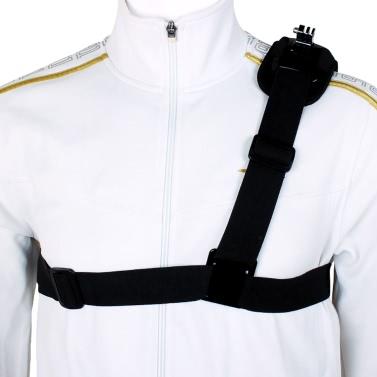 Einzel-Schulterriemen Montage Chest Harness-Gurt-Adapter für GoPro Hero 1 2 3 3+ 4 Kamera.