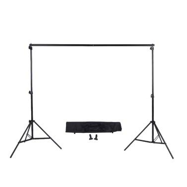 2 * 3m/6.6 * 9,8 Ft réglable Photo Backdrop traverse Kit avec 2 étaux