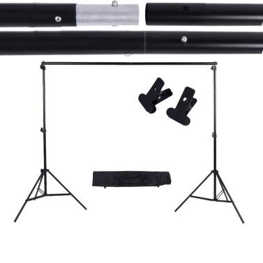2 * 3m / 6.6 * 9.8ft Einstellbar Hintergrund Unterstüzungsständer Foto Hintergrund Querstange Serie mit Zwei Klemmen