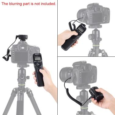 VILTROX JY-710 2.4GHZ FSK Wireless Remote Shutter Controller Set Time Lapse Intervalometer Timer with N3 Cable for Nikon D90 D600 D3100 D3200 D5000 D5100 D7000
