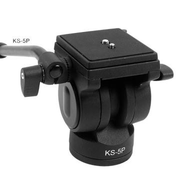 Diat KS - 5p Video Ball Head Kipphebel flüssig Stativkopf für DSLR-Kamera-Stativ