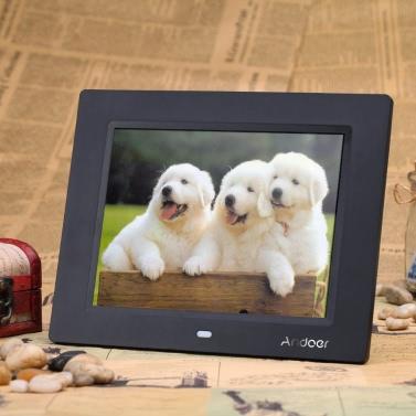 8-Zoll Ultradünne HD TFT-LCD Digitaler Bilderrahmen Wecker MP3 MP4 Video-Player mit Remote Desktop