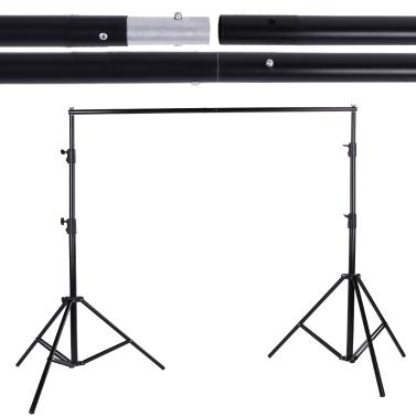 2.8 * 3 m / 9,2 * 9.8ft Einstellbare Fotografie Hintergrund Support System Hintergrund Stand Crossbar Kit Set für Muslins Kulisse