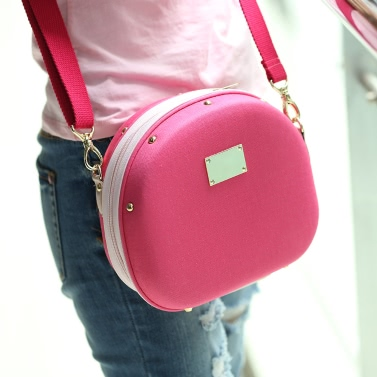 Rose Camera Bag Hamburger Shape Bag Single-shoulder Bag with Large Volume for Fujifilm Mini7s/25/50s/55/90 Cameras
