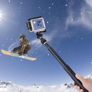 Andoer Handheld Monopod Selfie Stick Telescopic Extendable Tripod Mount Adapter Screw GoPro Hero 4/3+/3/2/1 Sony AS20/AS100V/AS200V Xiaomi Yi SJCAM SJ4000 SJ5000