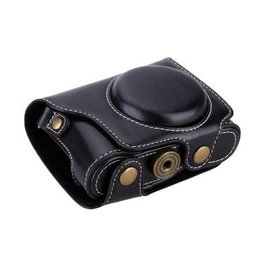 PU Leder professionelle Kamera Tasche Schutztasche mit Tragegurt 1/4 Schraube für Casio EX-ZR2000 EX-ZR3500