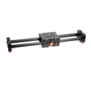 CACAGOO CS-V500 retráctil deslizante Video 50cm carro pista estabilizador real desplazamiento distancia de 1m hasta 8kg de carga para réflex digitales