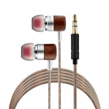 Dodocool Original DA36 Double Armatur und dynamische Kopfhörer ausgeglichen HIFI In-Ear Ear-Bud Wired zwei-Einheit Moving Iron Spule Canalphone Kopfhörer Gold plattiert-Stereostecker für Samsung iPhone Tabletten MP3